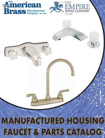 Manufactured Housing Faucet & Parts Catalog 2020